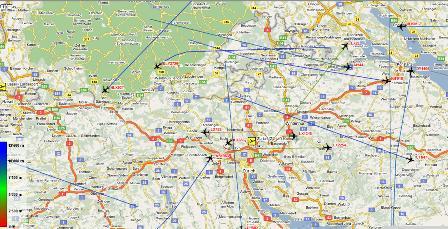 Flugbewegungen und Flugverkehr über Zürich beobachten