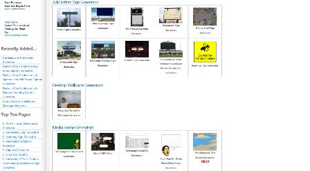Online Generator Diplome und Strassenschilder