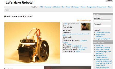 Roboter Bauanleitung Bauplan