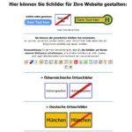 Autonummer, Ortstafeln, Strassenschilder Generator – mit kennzeichengenerator.com