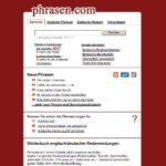 Redensarten, Phrasen und Redewendungen übersetzen – mit phrasen.com