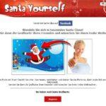 Lustige Weihnachtskarten – mach Dich zum tanzenden Santa Claus – mit santa yourself