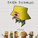 Bastelbögen für Papierfiguren – alles zum ausschneiden, falten, kleben – mit paperfoldables.com