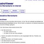Sternenhimmel heute online! – eine interaktive online Sternenkarte – mit AstroViewer