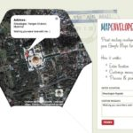 Briefumschläge und Couvert zum Drucken und falten (Google Maps als Couvert) – mit MapEnvelope