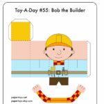 Ein Basteltipp für verregnete Sonntage – mit dem Bob der Baumeister Bastelbogen