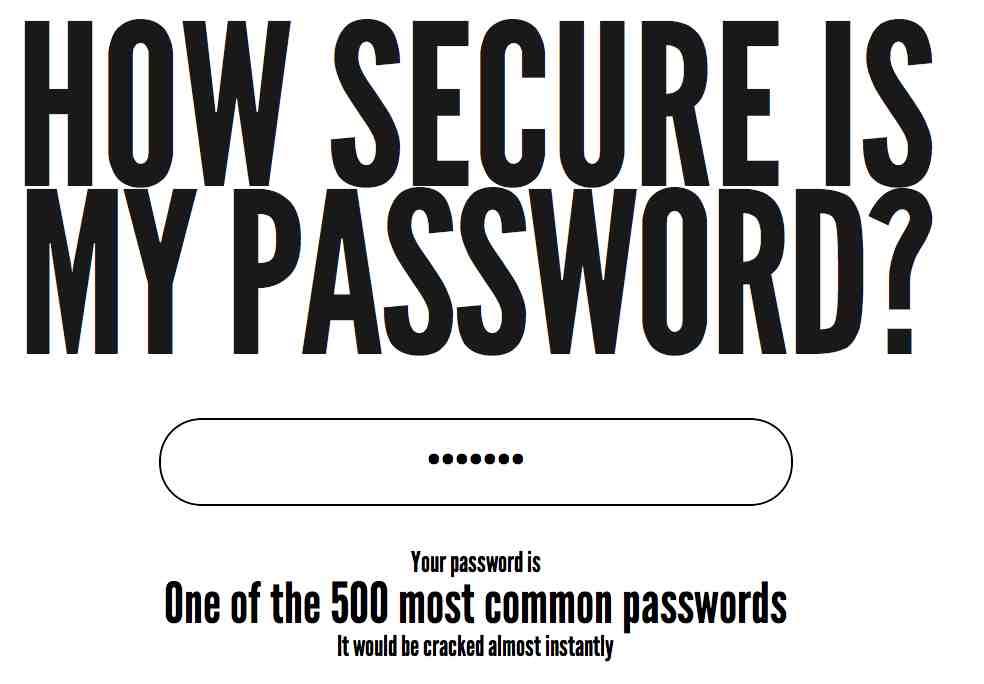 Passwort Sicherheit online testen