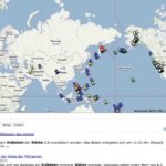 Gab es heute ein Erdbeben? Gab es letzte Woche ein Erdbeben? earthquakes.tafoni.net gibt Auskunft