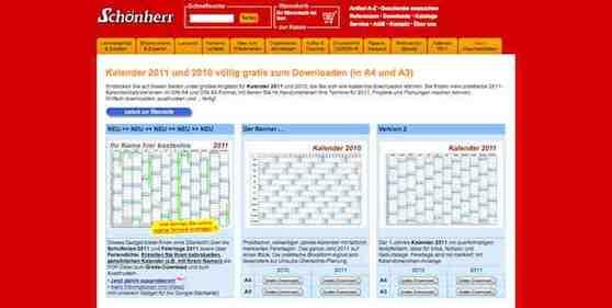 Online Kalender 2010 2011