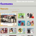 Ein aktueller Monatskalender mit eigenem Foto zum Ausdrucken – gratis Kalender Generator mit calendarika.com
