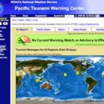 Tsunami Warnung aktuell – mit dem Pacific Tsunami Warning Center – weather.gov
