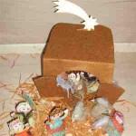 Weihnachtskrippe selber bauen – mit dem Bastelbogen von kidsweb.de