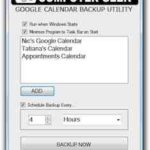 Google Calendar Backup – kostenlos mit Google Caledar Backup Utility