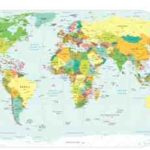 Weltkarte der Länderkürzel (Domainendungen Länder) im Internet – blogspot.com