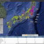Karte der Strahlenbelastung Japan – mit targetmap.com
