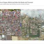 Erdbeben in Japan 2011 – Satellitenbilder von Japan vor dem Erdbeben und nach dem Erdbeben – mit nytimes.com