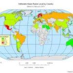 Weltkarte der Strahlenbelastung – mclaughlincentre.ca