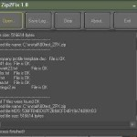 Defekte ZIP Datei trotz Fehler entpacken – mit der Freeware Zip2Fix