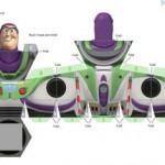 Buzz Lightyear als Papier Faltvorlage (Bastelbogen / Papercraft) – mit family.go.com