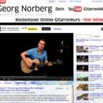 Gitarre online lernen – kostenlos mit Georg Norberg und seinem Youtube Kanal