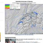 Schweiz Wetterradar – aktuelles Wetterradar mit meteoradar.ch