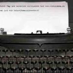 Schreibmaschinen Simulator – online mit antiperson.de/typewriter
