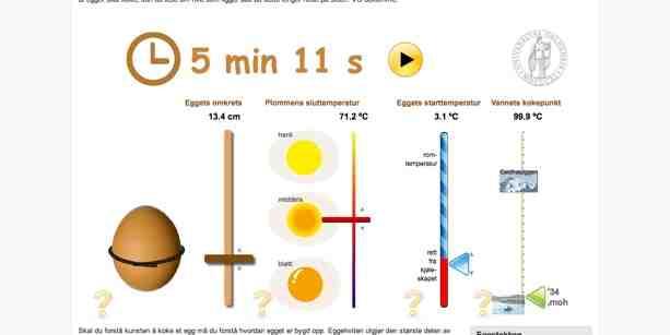 3 minuten ei kochen ein perfekter online timer mit der universit t oslo - Ei kochen mit eierkocher ...