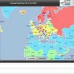 Durchschnittliche Körbchengrösse in Deutschland, Schweiz, Österreich, Weltweit – mit targetmap.com