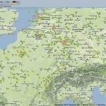 Flugverkehr live über Europa – Fluglärm Karte mit dfld.de