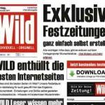 Zeitung Titelblatt Vorlage – Festzeitung, Geburtstagszeitung, Hochzeitszeitung – mit wild-zeitung.de