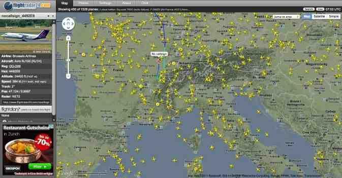 Flüge live verfolgen - Flightradar24
