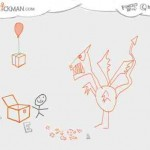 Ein lustiges Strichmännchen Spiel – online mit drawastickman.com