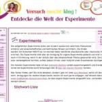 Experimente für Kinder – Die Welt einfach erklärt – mit bluemel.eu