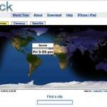 Weltzeituhr online – mit qlock.com