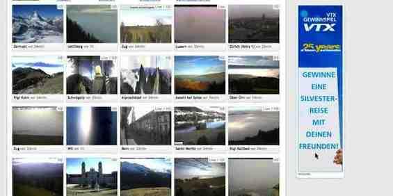 Wo scheint heute die Sonne Webcam Schweiz