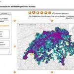 Natelantennen Standorte Schweiz – mit BAKOM
