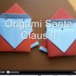 Origami Weihnachtsmann – eine tolle Anleitung