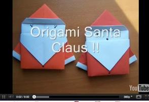 origami weihnachtsmann eine tolle anleitung. Black Bedroom Furniture Sets. Home Design Ideas