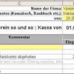 Kassenbuch Excel-Vorlage – kostenlos mit vereinsbuchhaltung.ch