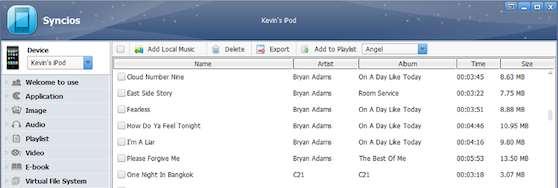 iPhone Dateien kopieren syncios