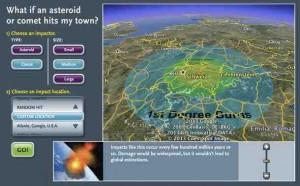Asteroid Einschlag berechnen