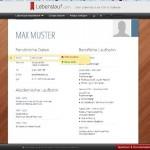 Vorlage Lebenslauf – online ausfüllen mit Lebenslauf.com