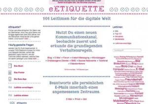 Verhaltensregeln Internet Etiquette