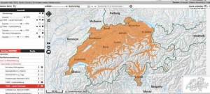 Zecken Karte Schweiz