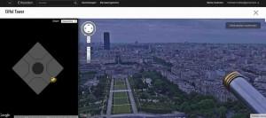 Ab sofort kann man dank Google Street View den Eiffel Turm online besuchen.