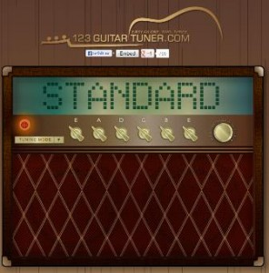 Mit dem kostenlosen Webapp 123guitartuner.com können Sie Ihre Gitarre online stimmen - kostenlos versteht sich.