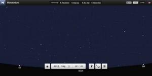 Mit dem online Planetarium auf der Webseite neave.com zeigen Sie den aktuellen Sternenhimmel bequem im Browser an.