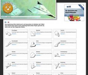 Sage und Schreibe 65 Papierflieger Anleitungen zum Falten finden sich auf der Webseite Spielkeks.de