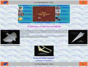 Papierfliegerei Webseite