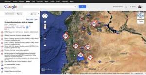 Ist bald Krieg in Syrien? Welche Ziele greiffen die USA bei Kriegseintritt zuerst an? Foreignpolicy hat sich dieser Frage angenommen und eine Karte der möglichen Ziele zusammen gestellt.